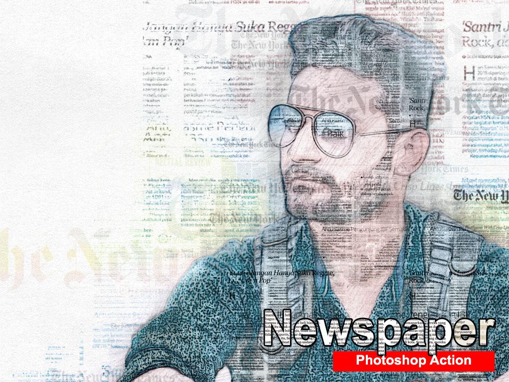 Amazing Newspaper Art Photoshop Action by KakDesign on Dribbble