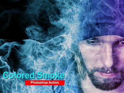 Amazing Colored Smoke Photoshop Action