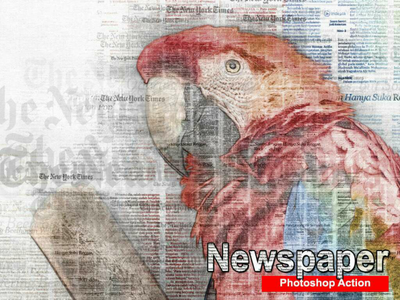 Amazing Newspaper Art Photoshop Action . art trending typography tutorial professional photo effect newspaper letter design contemporary actions abstract
