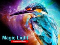 Amazing Magic Light Photoshop Action