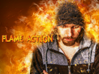 Amazing Flame Photoshop Action