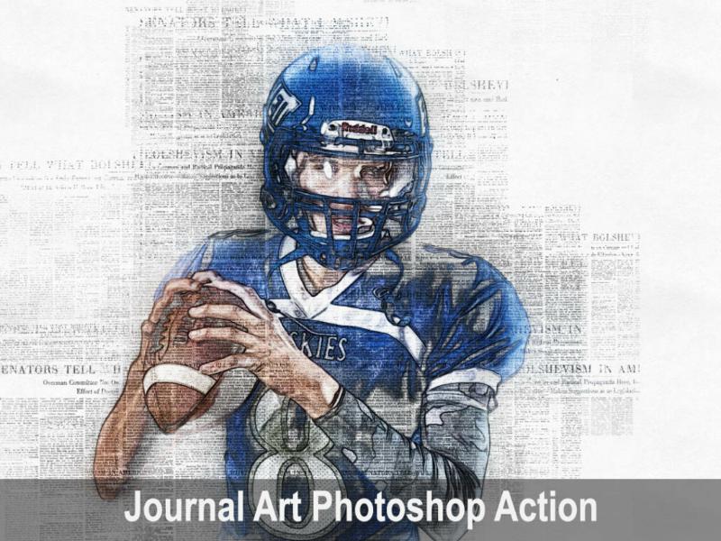 Amazing Journal Art Photoshop Action art photoshop viral trending journal newspaper new action graphicriver graphicdesigner envatomarket envato