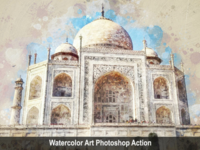 Amazing Watercolor Art Photoshop Action Vol 2