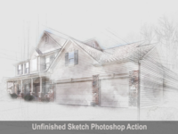 Amazing Unfinished Sketch Photoshop Action