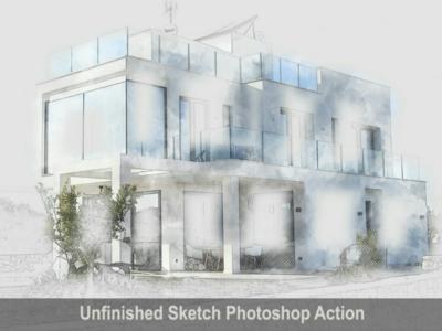Amazing Unfinished Sketch Photoshop Action