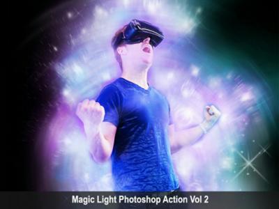 Amazing Magic Light Photoshop Action Vol 2