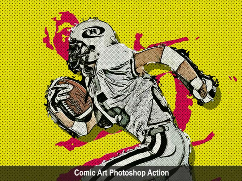 Amazing Comic Art Photoshop Action comic watercolor photoshop viral trending sketch action art graphicriver graphicdesigner envato envatomarket