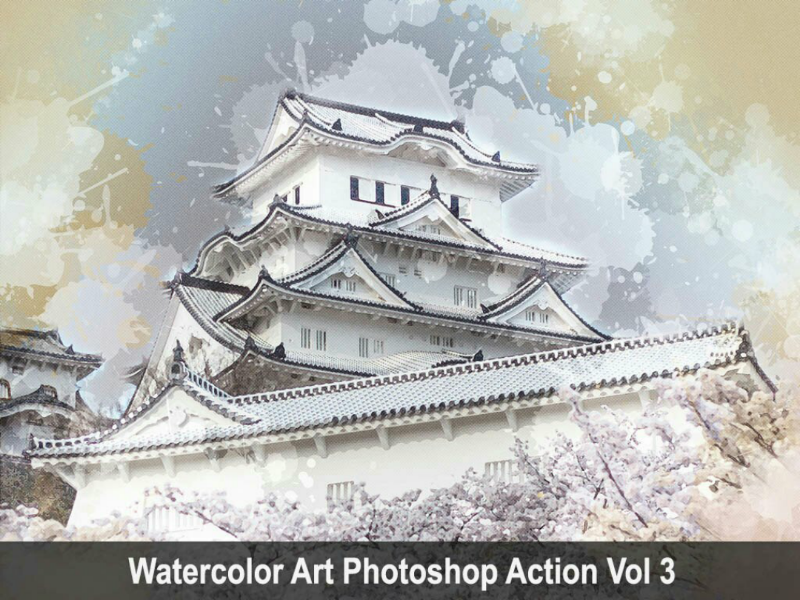 Watercolor Art Photoshop Action Vol 3 watercolor viral trending sketch photoshop paintingart graphicriver graphicdesigner envatomarket envato art action