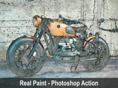 Amazing Real Paint - Photoshop Action