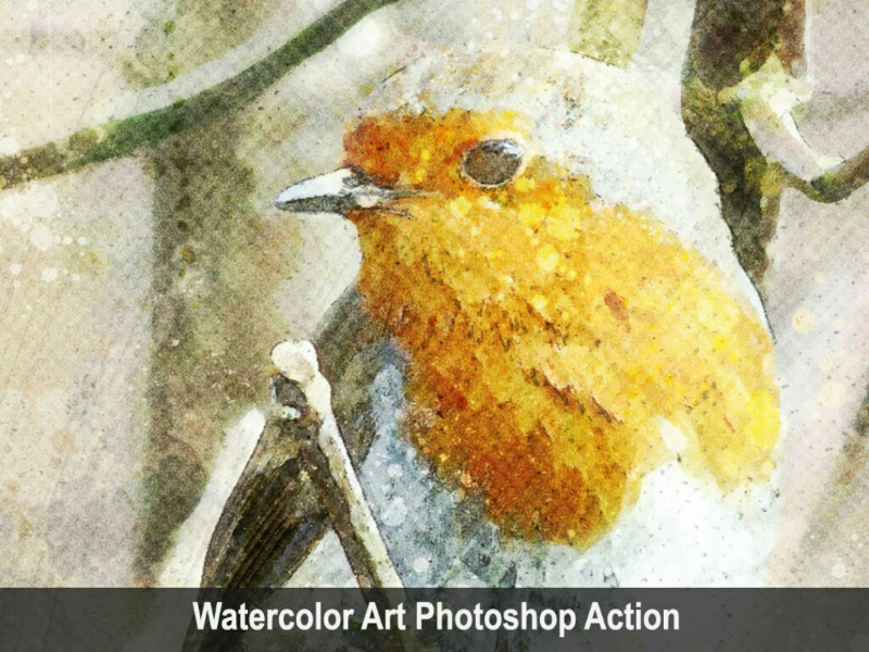 Amazing Watercolor Art Photoshop Action Vol 2 watercolor viral trending sketch photoshop paintingart graphicriver graphicdesigner envatomarket envato art action