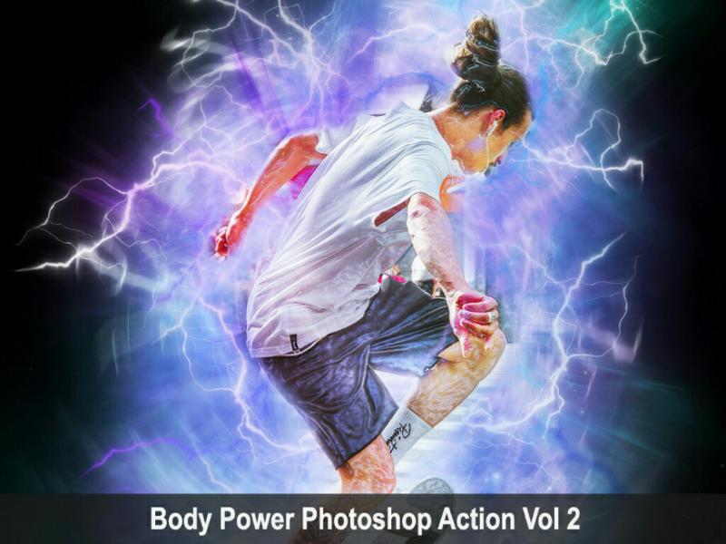 Body Power Photoshop Action Vol 2 power viral trending lightning photoshop graphicriver graphicdesigner envatomarket envato comic art action