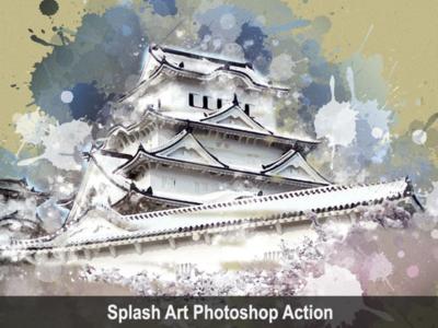 Splash Art Photoshop Action