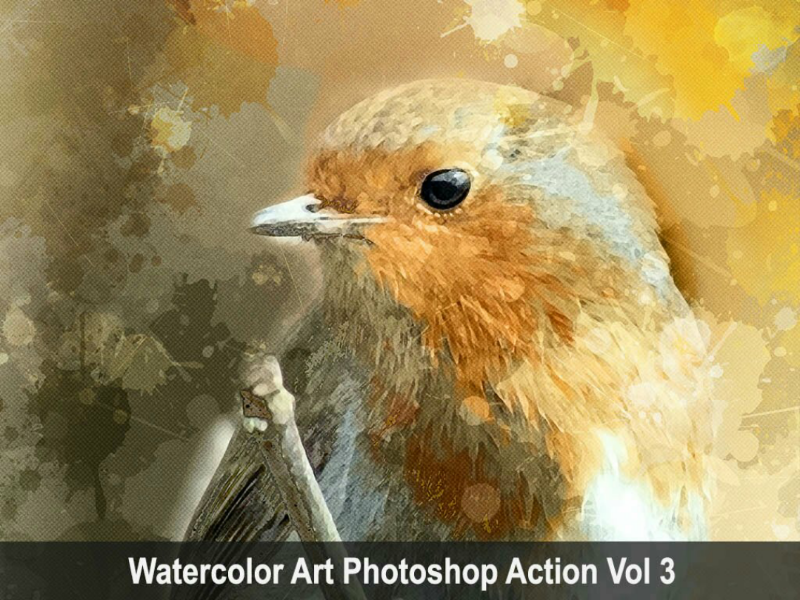 Watercolor Art Photoshop Action Vol 3 viral trending power photoshop lightning graphicriver graphicdesigner envatomarket envato comic art action