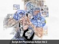 Script Art Photoshop Action Vol 2