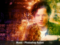 Music - Photoshop Action