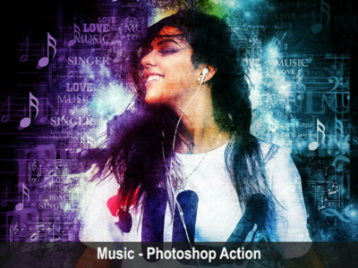 Music - Photoshop Action