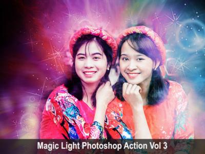 Magic Light Photoshop Action Vol 3