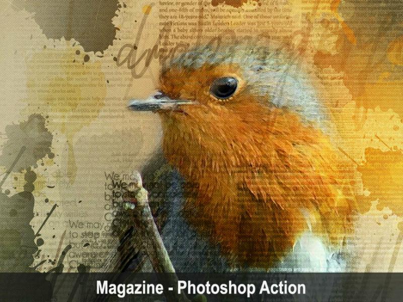 Magazine - Photoshop Action viral trending power photoshop newspaper magazine lightning graphicriver graphicdesigner envatomarket envato comic art amazing action