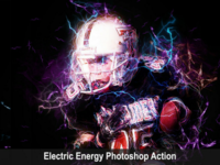 Electric Energy Photoshop Action