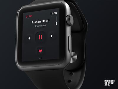 Neomorphism Player - SmartWatch applewatch minimal uidaily tendencie uidesign skeumorphism neomorphism ux ui design app