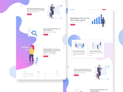 Landing Page Research and Design