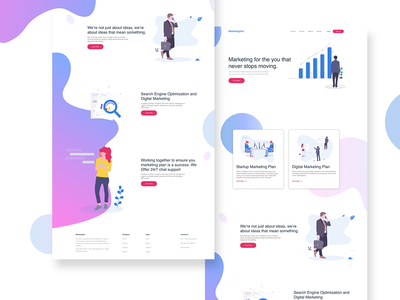 Landing Page Research and Design research designer landingpagedesign landingpage minimal website @uiux design ux vector @dailyui web design