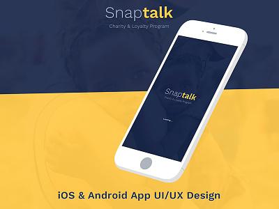 Snaptalk Charity And Loyalty Dribbble Shot mobile app ui design ui design