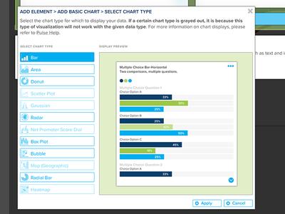 Chart Editor UI interface ui ux popup settings chart dataviz data dashboard interaction