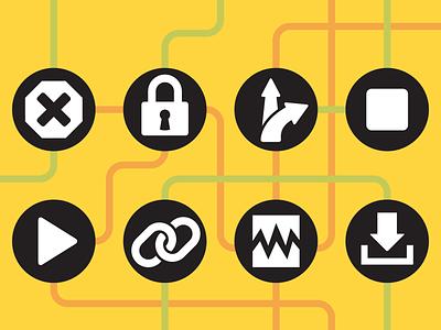 Process Flow Symbols ux ui motif symbol process flow icon
