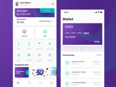 OVO Redesign Concept payment payment gateway payment app ovo color clean ux simple minimalist design design