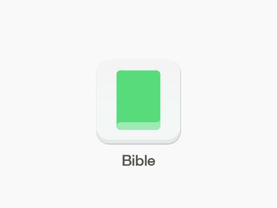 Bible App Icon color light bible ios green white simple flat colour concept