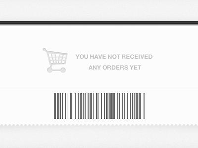 Orders Blank Slate