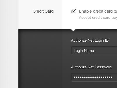 Credit Card credit card login ui lightcms