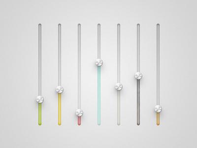 Colour Sliders oklahoma sliders colour ui elements dial interface knobs app