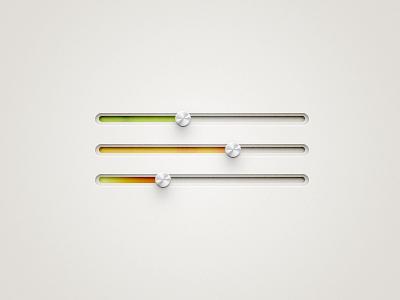 Sharp Sliders fireworks knobs knob slider sliders gradient ui interface