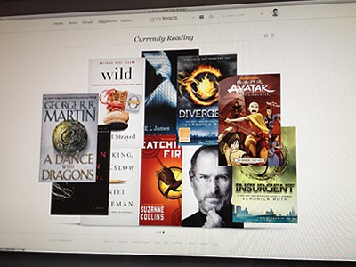 goodreads redesign goodreads clean simple bauhaus white black books read navigation ui