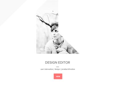 Portfolio portfolio design proxima nova typography button red white black gray