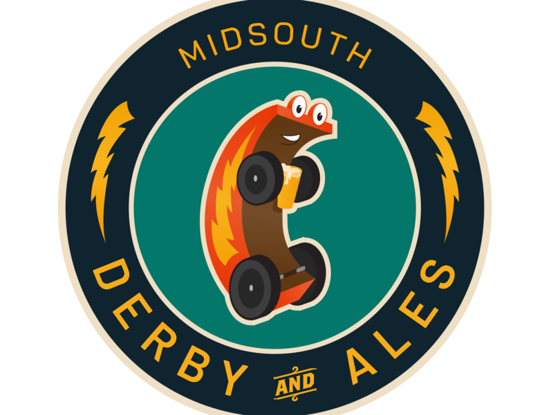 Derby and Ales sticker design vector illustration logo