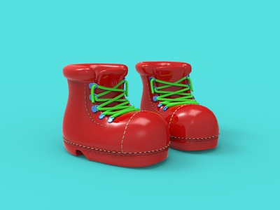 These boots are made for walking keyshot render boots