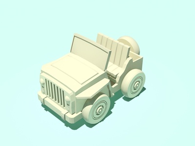 just working on a jeep low poly isometric jeep