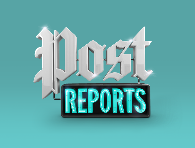 Cover art for Post Reports Podcast typography logo illustration post reports render podcast 3dletters 3d art washington post