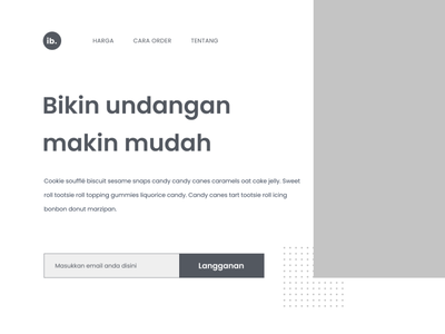 Ibarin Project - Landing Page Wireframe design web wireframe ui