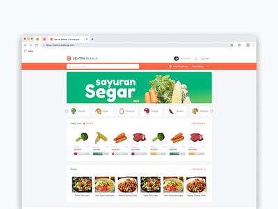 Sentra Belanja - Homepage groceries grocery reactjs frontend design ui