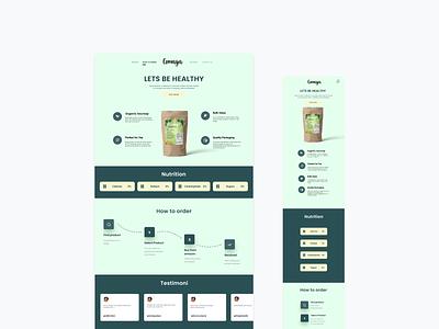 Comaya landing page herbal-ui clean branding mobileweb web tea herbal herbalstore landing-page landing store