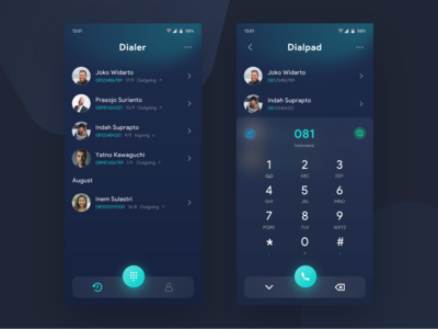 Dialer app Dark   Exploration