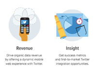 Illustrated icons: Twitter landing page