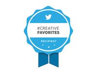 Twitter Creative Favorites - recipient badge