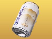 SAKURA LAGER can beer logo packaging japan design cherry blossom lettering graphic brandmark branding typography