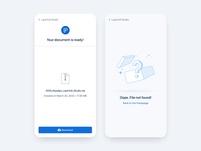 Download page ☁️ zip icon illustration design download document oops file ui ux product payfit minimal interface app