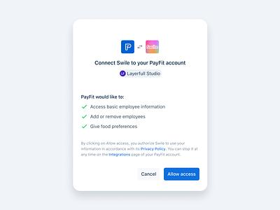 Integrations 🔗 logo saas payfit card modal responsive ux ui product minimal interface access api integrations design app